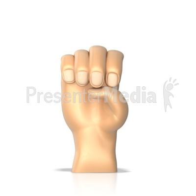 Sign Language Letter E Presentation clipart