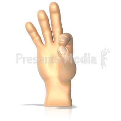 Sign Language Letter F Presentation clipart