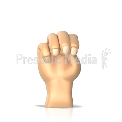 Sign Language Letter M Presentation clipart