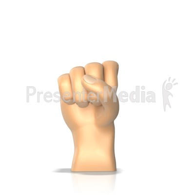 Sign Language Letter S Presentation clipart