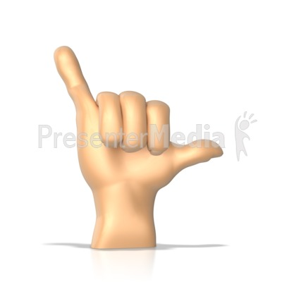 Sign Language Letter Y Presentation clipart