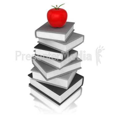 Apple On Book Presentation clipart