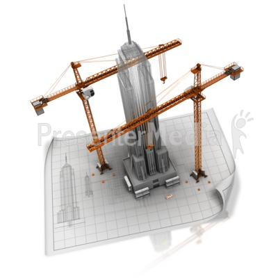 Building A Business Blueprint Presentation clipart