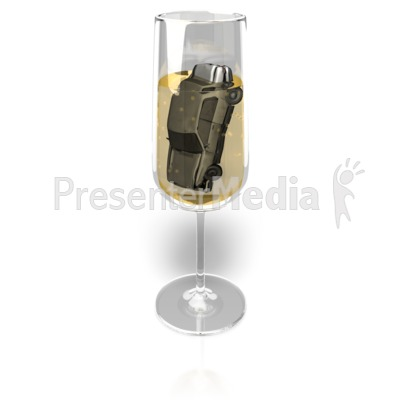 Champagne Drink and Drive Presentation clipart