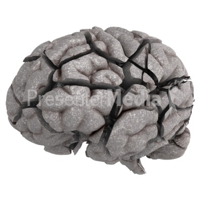 Brain Fractured Presentation clipart