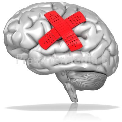 Bandaged Brain Presentation clipart