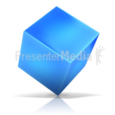 Cube Standing On Corner Presentation clipart