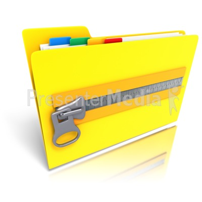 Folder Files Zipped Up Presentation clipart