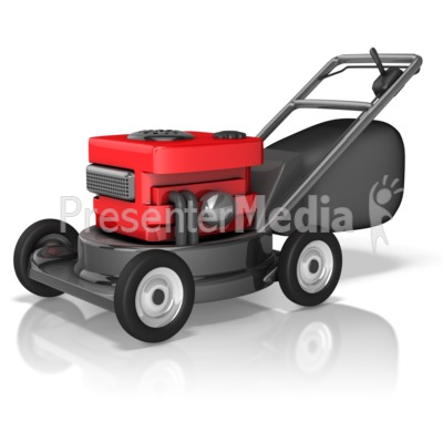 Rugged Lawnmower Presentation clipart