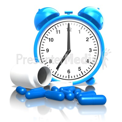 Remember To Take Your Medication On Time Presentation clipart