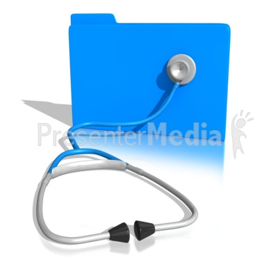 Stethoscope On a Folder Presentation clipart