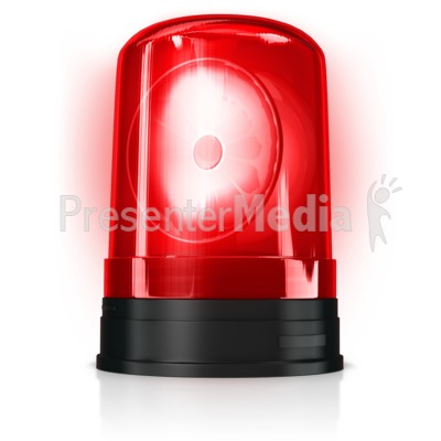 Lit Up Cylinder Siren Presentation clipart