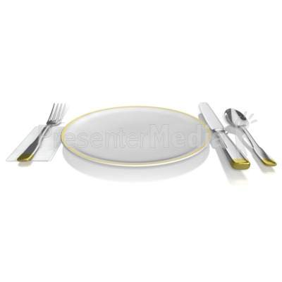 Place Setting Presentation clipart