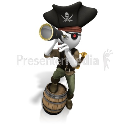Pirate Looking Spyglass Presentation clipart