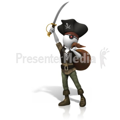 Pirate Stolen Plunder Presentation clipart