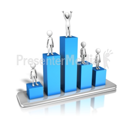 Top Figure On Bar Graph Presentation clipart