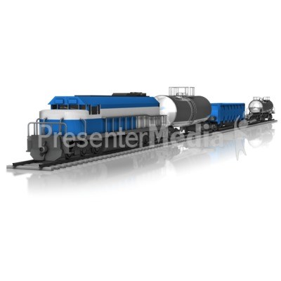 Cargo Train Presentation clipart