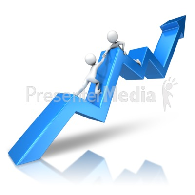 Helping Hand On Edge Presentation clipart