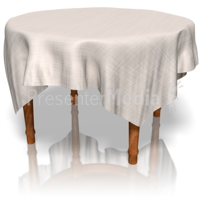 Table With Cloth Presentation clipart