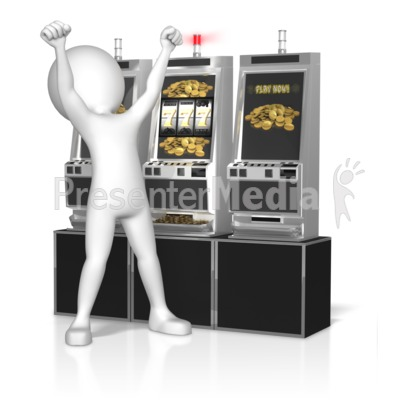 Figure Slot Machine Win Presentation clipart