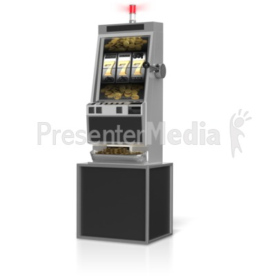Slot Machine Winner Presentation clipart