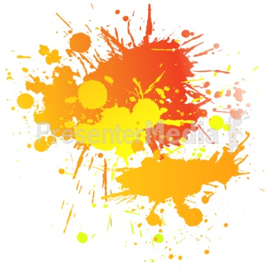 Painting Splatter Complimentary Presentation clipart