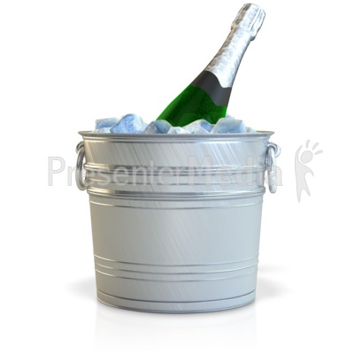Champagne In Bucket Presentation clipart