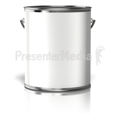 Paint Can Blank Label Presentation clipart