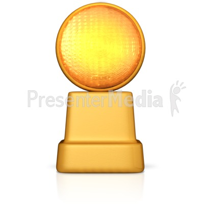 Caution Road Sign Light Presentation clipart