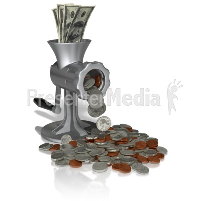 Money Grinder Presentation clipart