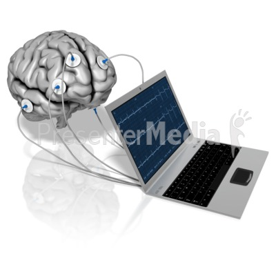 Notebook Brain Electrodes Presentation clipart