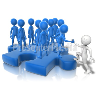 Join The Puzzle Crowd Presentation clipart