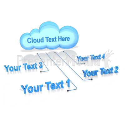 Text Connected To Cloud Presentation clipart