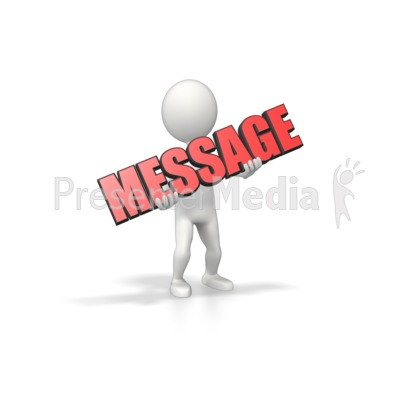 Figure Hold Text Presentation clipart