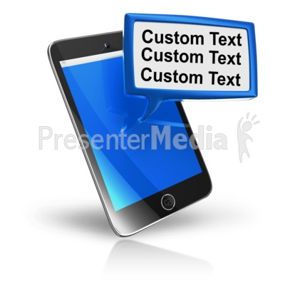 Smart Phone Texting Block Text Presentation clipart