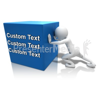 Pushing Heavy Box Text Presentation clipart