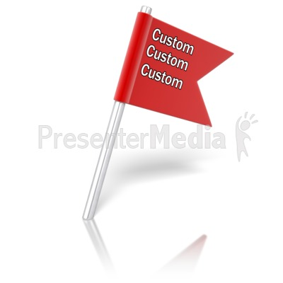 Flag Pin Angled Text Presentation clipart