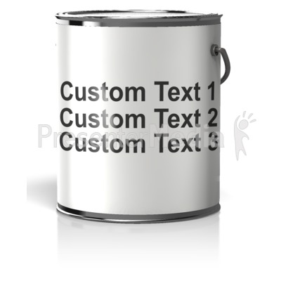 Paint Can Blank Label Text Presentation clipart