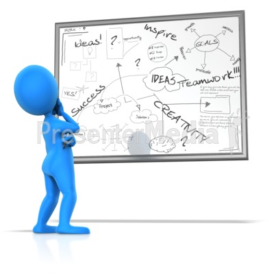 Pondering White Board Writings  Presentation clipart