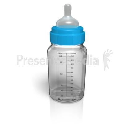 Baby Glass Bottle Empty Presentation clipart