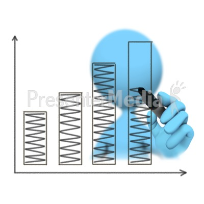 Figure Drawing Bar Graph Increase Presentation clipart