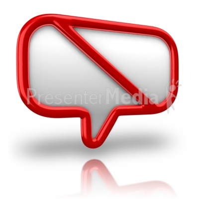 No Talking Sign Presentation clipart