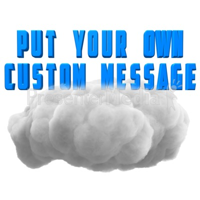 Fluffy Cloud Text Presentation clipart