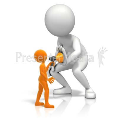 Figure Being Quieted Presentation clipart