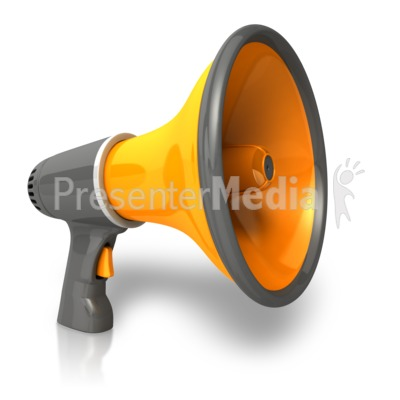 Single Bullhorn Presentation clipart