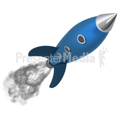 Retro Rocket Presentation clipart