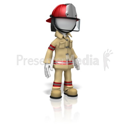 Firefighter Stand Presentation clipart
