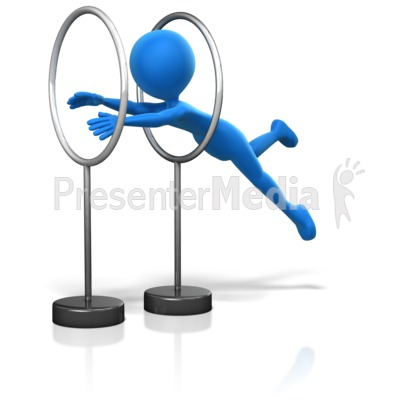 Jumping Through Hoops Presentation clipart