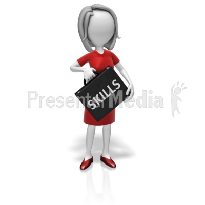 Businesswoman Skills Briefcase Presentation clipart