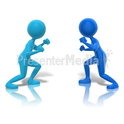 Fighters Ready Faceoff Presentation clipart